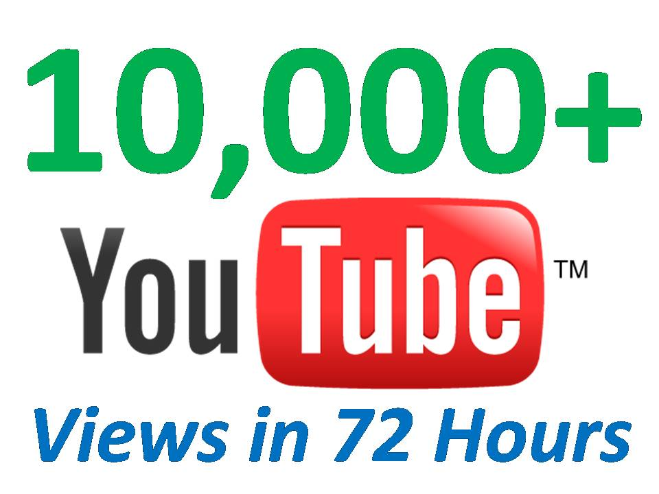 give You 10000+ Very URGENT YOUTUBE Views In 48 Hours