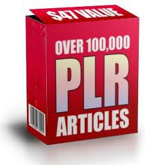 give you instant access to 100000 PLR Private Label Rights Articles