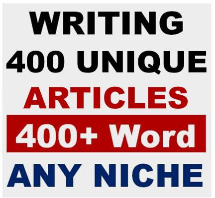 Generate 400 Unique and Fresh Articles 400+ word for Your Website