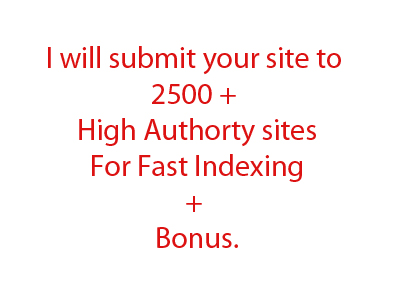 fast index your website by submitting it to 3000 + sites