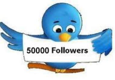 increase 50,000 twiter follower to your existing account