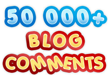 add 50,000+ Blog Comments to Boostup your website traffic