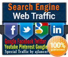 500+ human Traffics by Google/Facebook/Twitter/Youtube/Pinterest traffics. Search engine unique traffics of your choose with report