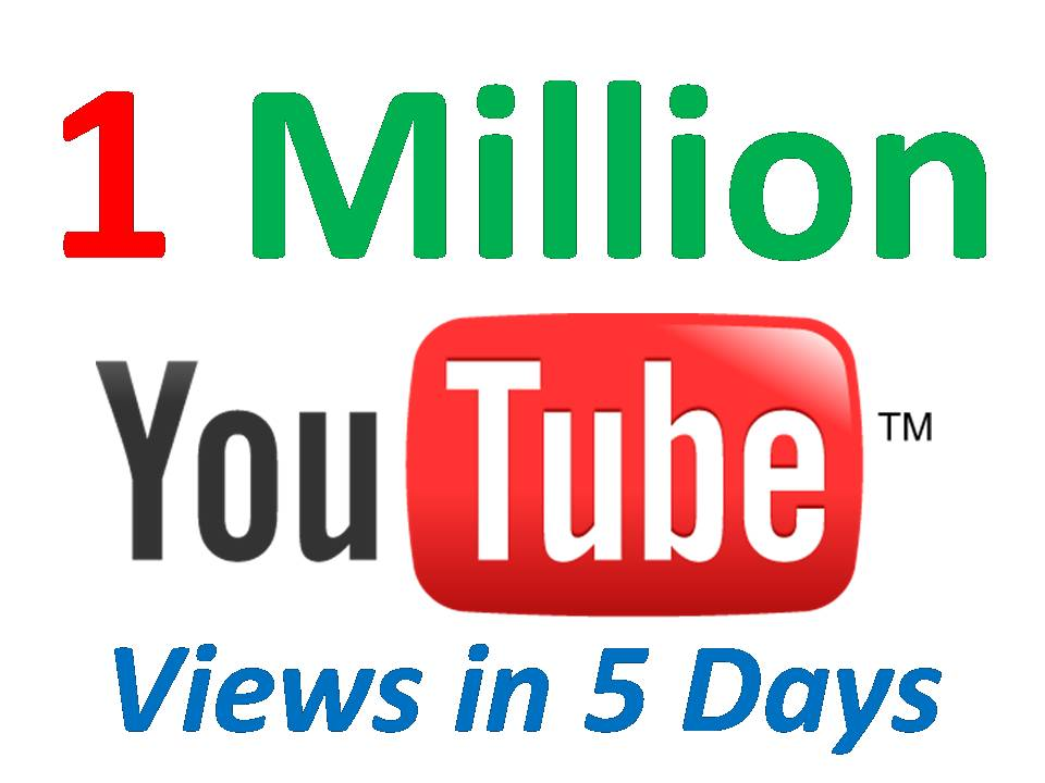 give You 1 Million Very Urgent YOUTUBE Views from USA
