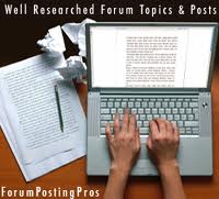 make 30 forum posts on your forum
