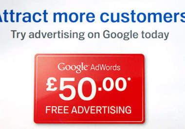 provide 4 x £50 Adwords voucher discount