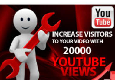 give you guaranteed 25000 FAST YouTub vieews to your Youtu video, fast delivery only