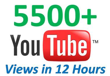 give You 5500+ Very Fast YouTube Views from USA With 100 Likes + 100 Favorites In Less Than 12 Hours