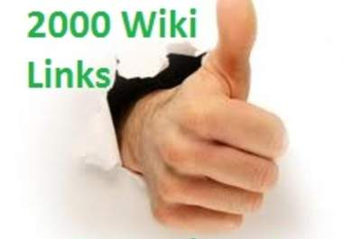 create 500 to 2000 UNIQUE wiki contextual backlinks PR8 to PR1 Backlinks, EDU sites included