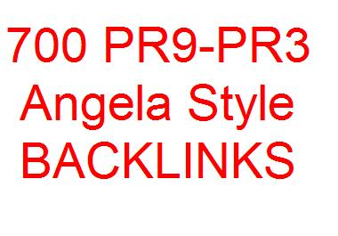 create 700+ PR9 to PR3 Angela style backlinks include EDU and GOV Backlinks