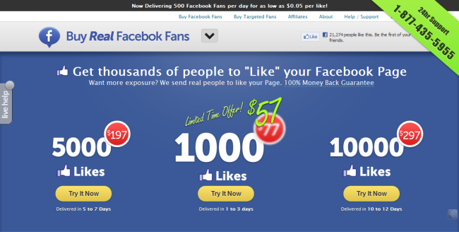 Get You 600 Real Facebook Likes