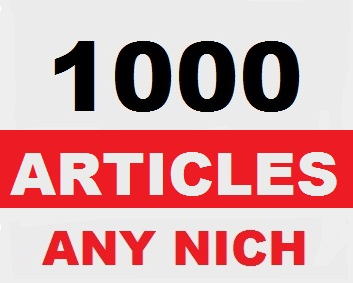Generate 1000 Fresh Articles in any NICHE