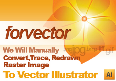 vectorized your LOGO raster image to VECTOR illustrator in 24hours