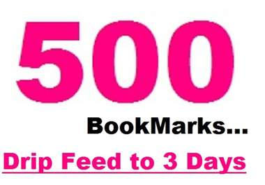 spread 500+ Social BookMarking submission up to 3 days + ping + indexer + PENGUIN friendly