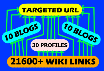 create 3 WAY LINKING to use 21600+ WIKILINK in Best Way with High PR3+ Blogs and PR4+ Profile Links