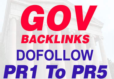 create 20 PR3-PR5 High PR DoFollow Gov Backlinks Increase Your Organic Seo Ranking In Google