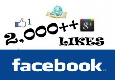 send 2000 ++ Facebook LIKES to your fanpage within 48 hours and tweet your message to 5000+ twitter followers