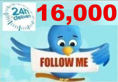 get you 15,000+ TWITTER FOLLOWERS + I will advertise your twitter page to our 17,000+ followers on FB and Twitter