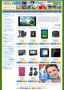 sell my PC Tablet Store Site Make money from Amazon Affiliate