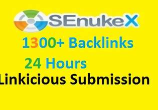 provide 48 Hour delivery of SeNuke x Service creating Penguin Friendly selected and best 1300 backlinks