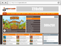 make a arcade wordpress blog just like this http://gametoys.info
