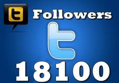 get you 18100 Real looking TWITTER followers To Your Profile without any admin access [ Trusted Service ]