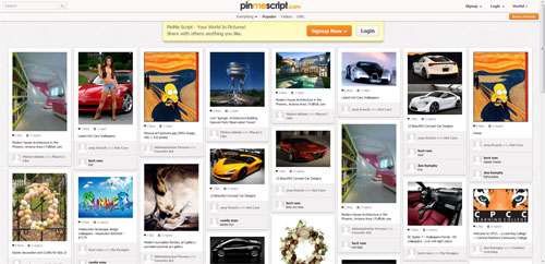 sell you pinterest clone Pinmescript license