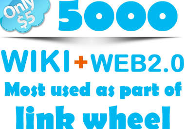 create 5000 WIKI LINKs + 400 Web 2,0 Unlimited URLs And Keywords, Many Pr6 Pr5 Pr4 Pr3 Pr2 hp WIKIs, Best Seo WIKILINKs