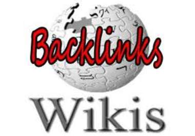 create 2000+ Contextual BACKLINKS from 1000+ unique high pr wiki sites