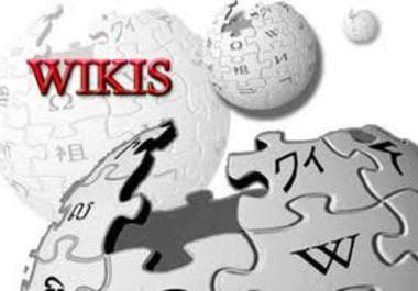 create 1500+ Contextual BACKLINKS from 500+ unique high pr wiki sites