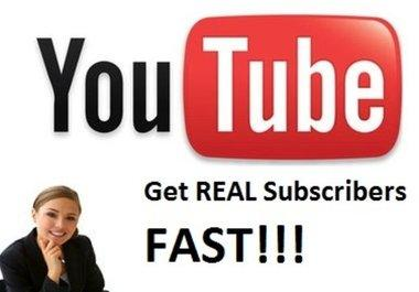 provide you 50 real subscribers to your YouTube