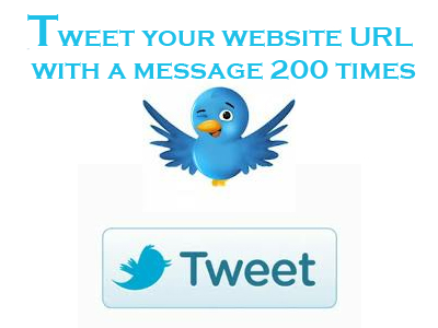 offer you 200 + tweets of your URL 