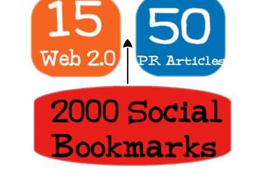 create 70+ PR3 to PR8 linkwheel and 2000 social bookmarks