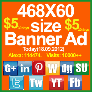 Promote your 468X60 Size Web Banner on my Social Exchange Site for 30 days