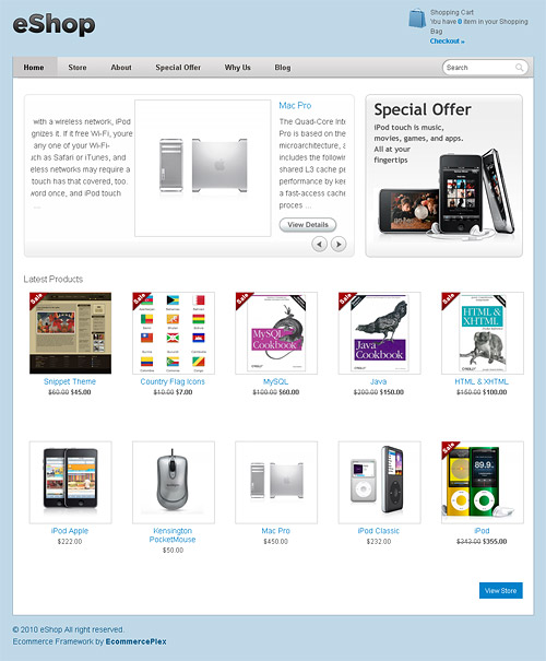 eShop WordPress Theme premium