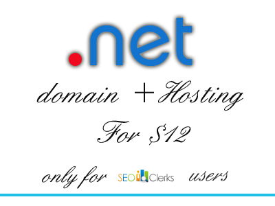 give you any .net domain with unlimited hosting