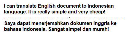 translate English document to Indonesian