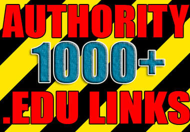  make over 1000++ VERIFIED edu links to boost your site authority and serp positions with this edu links package I accept bulk urls / keys