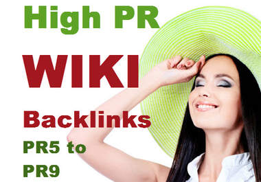 create 60 Backlinks on 20 unique High PR5 to PR9 WIKI Sites