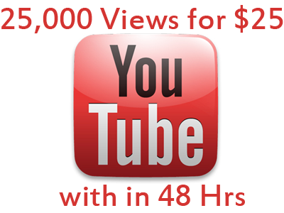 offer you 25000 + Views for your Youtube video