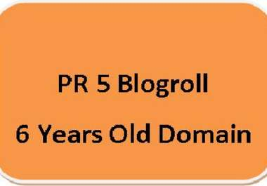 give you a PR5 Blogpost on 6 years old domain with 2 of your dofollow links