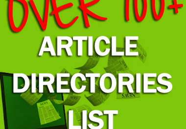 give you my collection of article directories