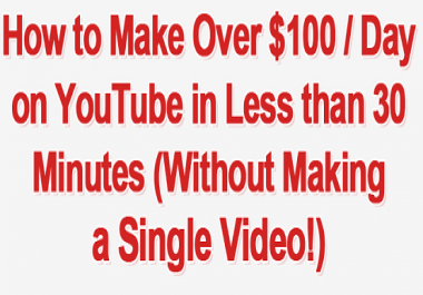 How to Make $100 / Day on YouTube Without Making a Single Video