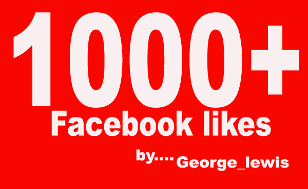 give 1000+ high quality Facebook likes on your fanpage