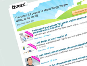 Buy Your Gig on Fiverr and Give it a positive rating
