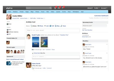 provide your own social website! (like Facebook, Myspace and Bebo)