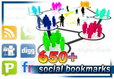 submit your Site to 650+ Social Bookmarks for SEO and SERP