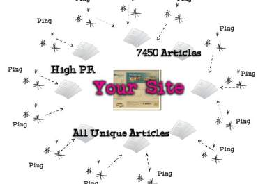 pin and submit your article to 7450 Article Directories, Get 500+ Google Backlinks + Full Report + Ping 