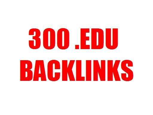 Get 300 .EDU Links + 200 Low Obl Backlinks + 300 High PR PR1-PR4 Backlinks Google Love Edu Links and increase your website position in Google