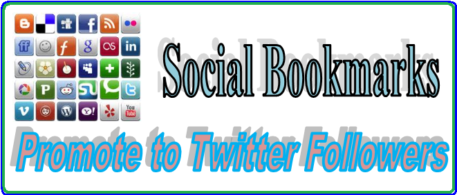 Deliver your sites to 1500 + Social Bookmark Backlinks then promotes to 50,000 ++ Twitter followers